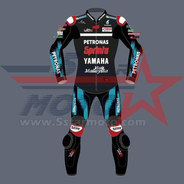 Fabio Quartararo Leather Suit Yamaha MotoGp 2020 Custom Made