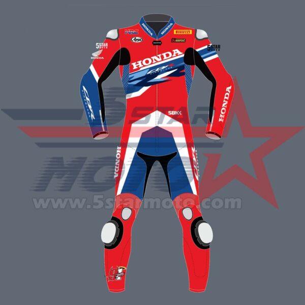 Leon Haslam Leather Suit Honda CBR WSBK MotoGp 2020 Custom Made