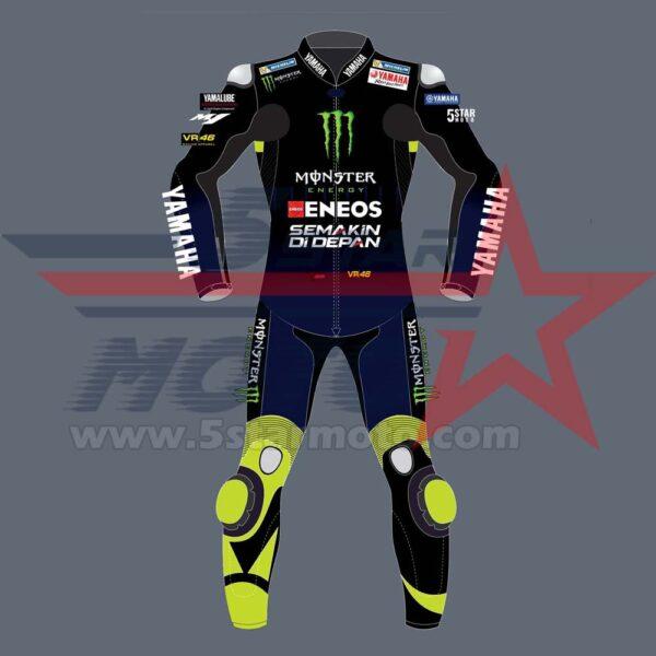 Valention Rossi Leather Suit Yamaha MotoGp 2020 Custom Made
