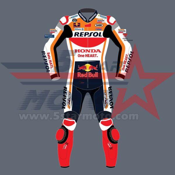 Marc Marquez Leather Suit Honda Repsol Motogp 2020 Custom Made